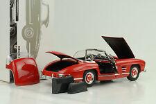 1957 Mercedes-Benz 300 SL Roadster rot W198 + Hardtop  1:18 Minichamps