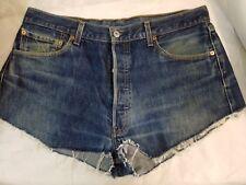 pantaloncini shorts jeans donna Levi's 501 W 36 L 36 taglia 50
