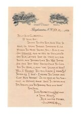 James Whitcomb Riley Autograph Letter in Print - Authentic - A Real Beauty!