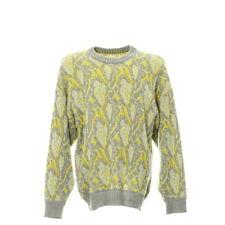 Vintage Pullover Coogi Style Größe L Sweatshirt Sweater Retro Motiv Gelb Grau