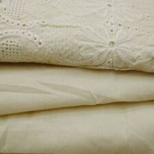 """46"""" Wide White Fabric Cotton Material Cut Work Supplies By 1 Yd FBC7301A"""