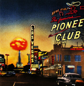 Atomic Las Vegas - 1950's - Vintage Postcard Poster