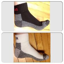 12 Pairs (6 Black & 6 White) Mens  Snap On ANKLE Socks XL ~ FREE Shipping ~ New!