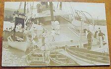 1910's Interisland SS Mauna Kea after Harbor Accident (1912) TH Hawaii AZO RPPC