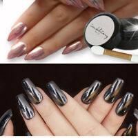 New ROSE GOLD/Black NAILS POWDER Mirror Chrome Effect Pigment Nail Art