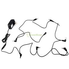 US 9V DC 2A Guitar Effect Pedal Power Supply Adapter 8 Way Daisy Chain Cable Kit
