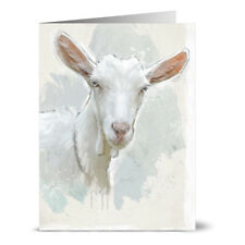 24 Note Cards - Painted Goat - Off White Ivory Envs