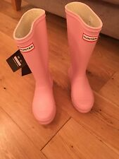 Hunter Original Niños Rosa Botas Wellington-Size UK 13 EU 32