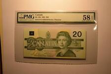 CANADA $20 1991 EVV1488370 -  B/T Changeover - PMG Graded CHOICE AU 58