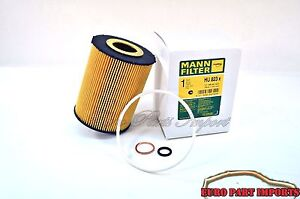 BMW E60 E61 E63 E64 E65 E66 E70 Mann Oil Filter + Seal Ring HU823X OEM Quality