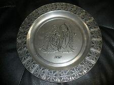 1979 RWP Wilton vintage pewter plate Angel, Mary, Jesus