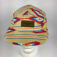 OBEY Propaganda Hat 5 Panel Cap Ajustable Leather Strap Aztec Vibrant Colors
