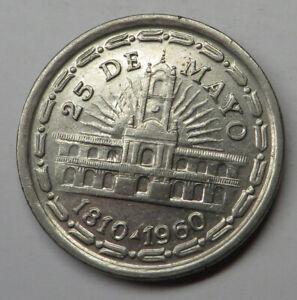 Argentina Peso ND(1960) Nickel Clad Steel KM#58 aUNC