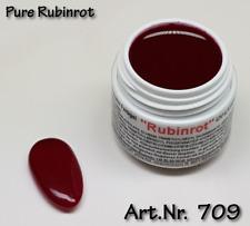 5 ml  UV Exclusiv Farbgel Pure Rubinrot Gel Nr.709