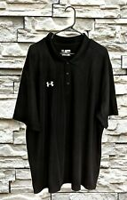 New Under Armour Heat Gear loose fit Gray short sleeve golf polo size men's 4XL