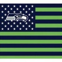 Seattle Seahawks 3x5 Foot American Flag Banner New