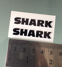 VISOR Stickers / Decals For SHARK Helmets (PAIR) (4,5CM x 1CM)