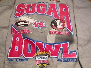 Georgia Bulldogs Florida State Seminoles Sugar Bowl Grey Sweatshirt Youth XL #11