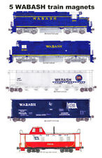 Wabash Blue-era Freight Train 5 magnets by Andy Fletcher