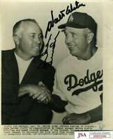 Walter Alston Duke Snifer JSA Coa Autograph Hand Signed 8x10 Wire Photo