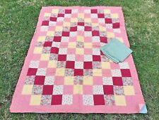 Unfinished Quilt Shades Of Pink Fully Assembled With Batting & Backing Included