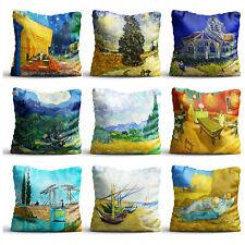 Painting By Van Gogh High Quality Silk Pillowcase Sofa Decor Cushion Cover