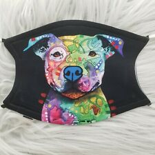 Face Mask Pitbull Neon Adorable Cute washable, adjustable . 2 filters included