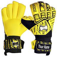 Zoop Pro Roll Flat Finger Saver Goalkeeper Goalie Gloves Sizes 5/6/7/8/9/10/11.