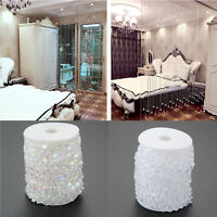 30M Garland Diamond Acrylic Crystal Bead String Curtain Wedding Party Decoration
