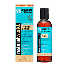Natural World Moroccan Argan Oil - Miracle Oil for Body and Face 200ml