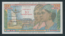 Reunion Nd(1971) 10 Nf on 500 Francs