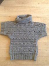 Alpaca Wool Mix Chunky Knit Polo Neck Tabard Size S 8 10