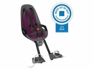 HAMAX CARESS OBSERVER MINI FRONT CHILD BIKE SEAT FITS H/BAR STEM GREY/BLACK/PUR