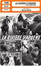 FICHE CINEMA : LA RIVIERE D'ARGENT - Flynn,Sheridan,Walsh 1948 Silver River