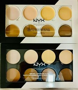 NYX Professional Makeup Highlight and Contour Cream Pro Palette 0.07oz-M8