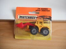 Matchbox Shovel Nose Tractor in Yellow on Blister