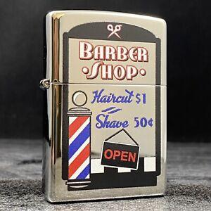Riley's 66 Custom Zippo Lighter - Barber Shop - High Polish Chrome