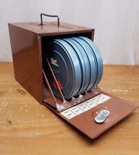 Vintage GB 8mm Metal Reel Real Storage Safe Holder with 4 Reels Canisters Cases