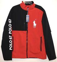 Polo Ralph Lauren Big & Tall Mens Red Black Big Pony Performance Jacket NWT LT