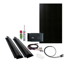 Solar Panel Kit 100W/12V, all black, mono shrine cell, Steca charge controller