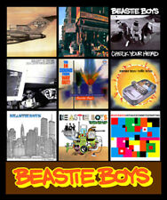 """BEASTIE BOYS discography magnet (4.5"""" x 3.5"""") pharcyde rage against the machine"""