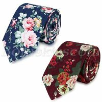 Men 6cm Wide Casual Necktie Floral Flower Wedding Party Adjustable Neck Tie Gift