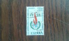 sello usado año internacional de los derechos humanos, edifil 1874 año 1968