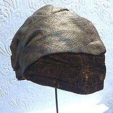 Antique Vintage Gold Lame And Velvet 1920's Cloche Hat