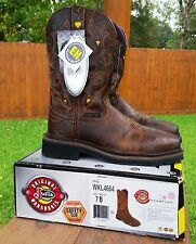 Justin Work Boots Women's Rugged Tan Size 7B- NEW IN BOX Safety Toe