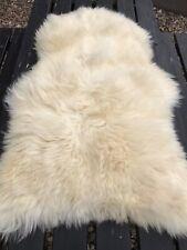 Large British Natural Super Soft and Thick Wool Sheepskin Rug 95x60cm B3-11
