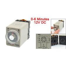 0-6 Minuten 8 Pin Kunststoff-Gehaeuse Delay Timer Zeitrelais DC 12V AH3-3 w G2Y6