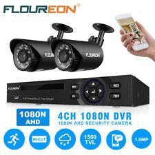 FLOUREON 720P 1500TVL 4CH CCTV Night Vision Home Security Camera System Outdoor