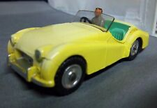 TRIUMPH TR2 DINKY Triumph TR2 Pale Yellow On Mint Green RHD Meccano TRIUMPH TR-2