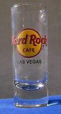 Hard Rock Cafe Tall Shot Glass black letters Grand Opening Las Vegas Strip 2009
